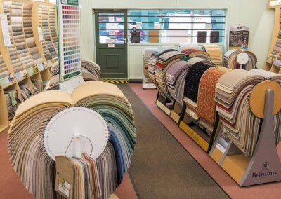 Large carpet and flooring showroom at T Nutt & Sons